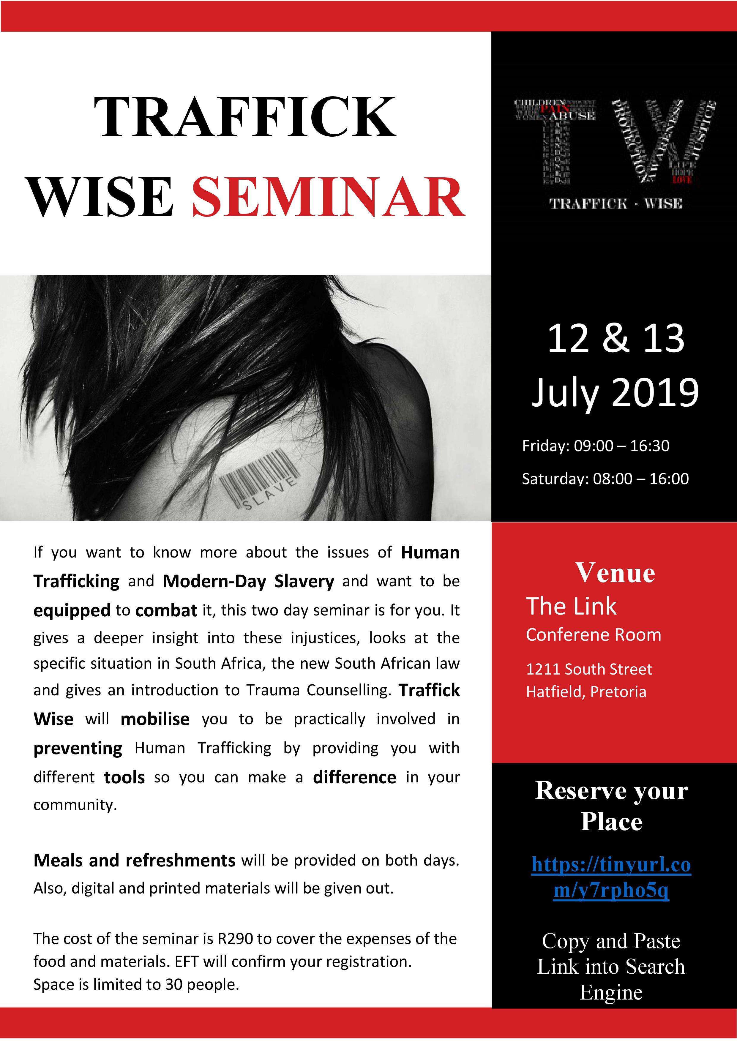 Traffick Wise seminar 12 - 13 July 2019